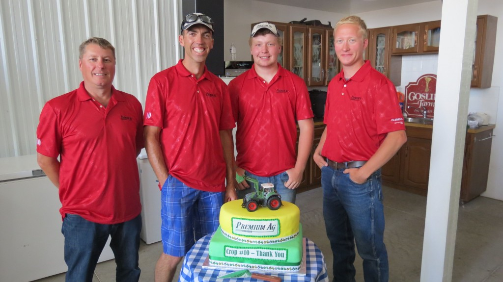 The Premium Ag team and their 10th Anniversary cake.