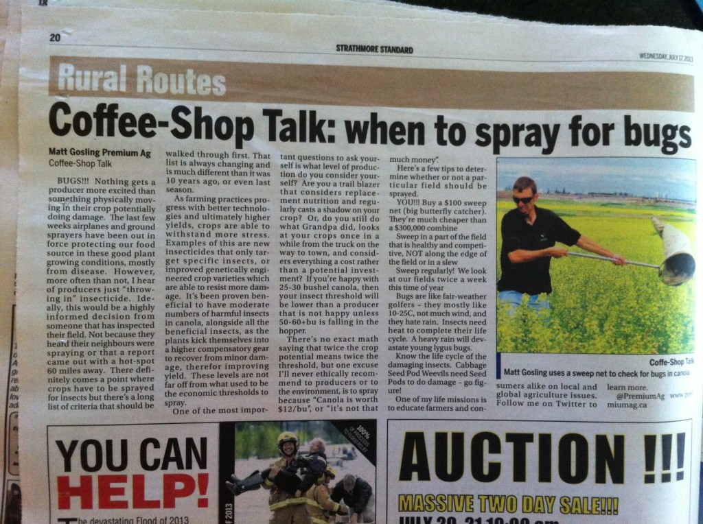 Matt Gosling's most recent blog post gets featured in the local paper.